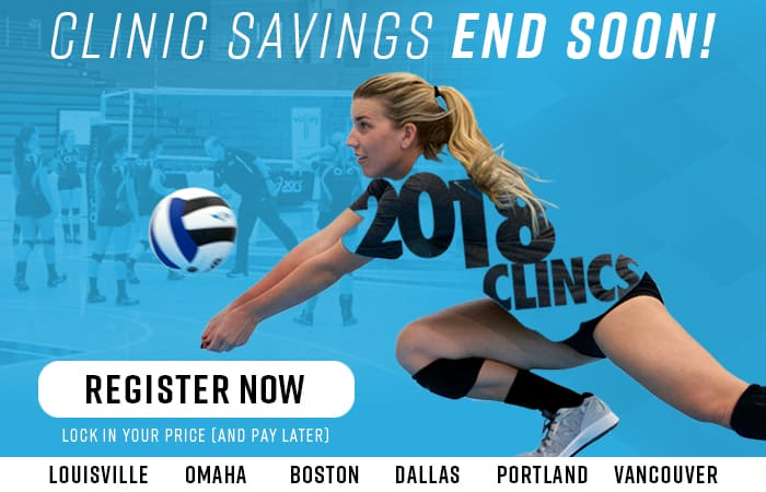 Volleyball Coaching Clinics - Ticket prices rise soon!