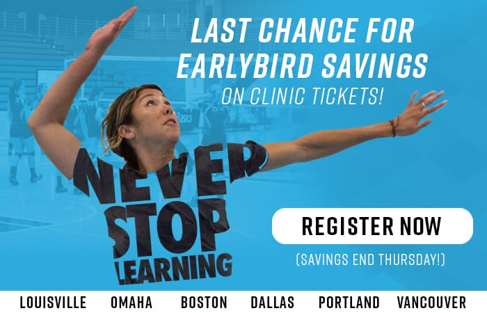 Volleyball Coaching Clinic Early Registration ENDS SOON
