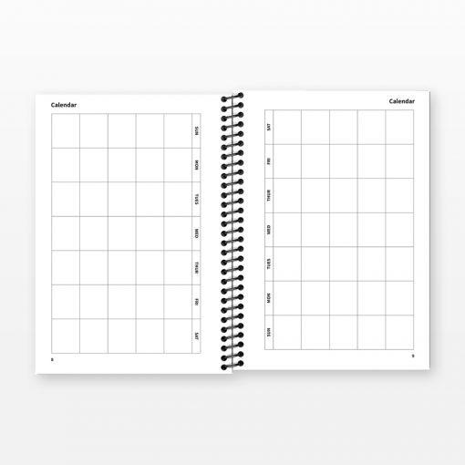 6-month calendar